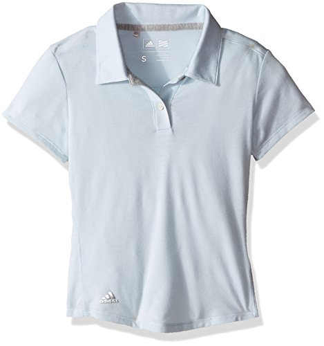 adidas Golf Girls Climalite Essentials Short Sleeve Heathered Polo Shirt