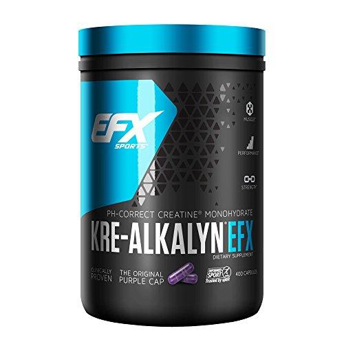 EFX Kre-Alkalyn | PH Correct Creatine Monohydrate | Patented Formula, Gain Strength, Build Muscle & Enhance Performance | (400 Capsules)