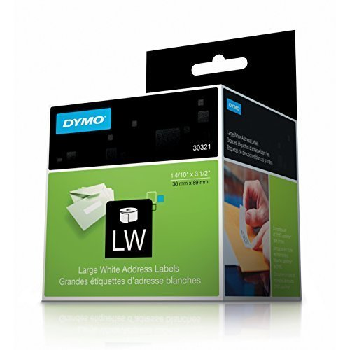 DYMO LabelWriter Self-Adhesive Large Address Labels, 1 4/10- x 3 1/2-inch, Roll of 260, 2-Pack (30321) by (30321 Large White Address Labels)