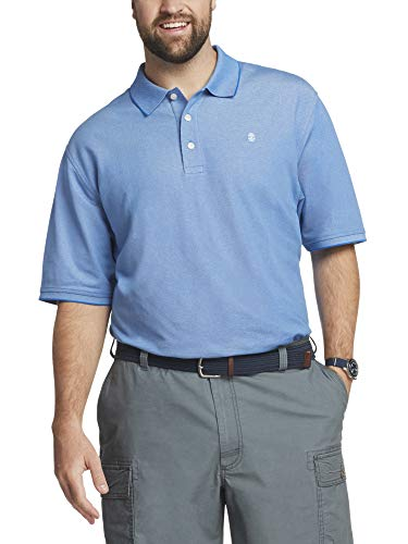 IZOD Men's Big and Tall Advantage Performance Short Sleeve Solid Polo Shirt