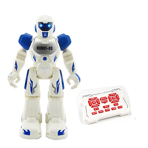 rcmania RC Remote Control Robot, COOL99 RC Remote Control Robot Smart Action Infra-red Allows Gesture Control Kids Toy (A, Blue)