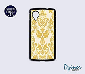 Nexus 5 Case - Yellow Damask Pattern iPhone Cover