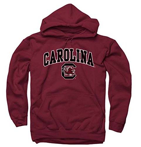 South Carolina Gamecocks Arch & Logo Gameday Hooded Sweatshirt - Garnet (University South Logo Carolina Gamecock)