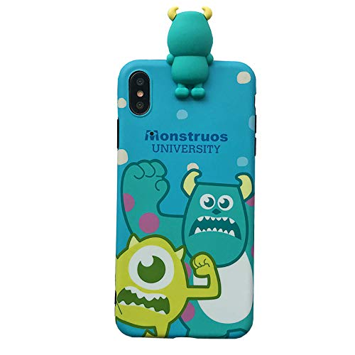 Soft TPU Blue Monsters University Sulley Mike Case for Apple iPhone X XS iPhoneX Slim Shockproof Shock Proof Smooth Slim Sleek Fit Fun Unique Cute Chic High Fashion Stylish Cool Girls Boys Teens Kids]()