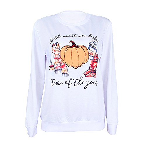 kaifongfu Halloween Long Sleeve Sweatshirt for Women Pullover