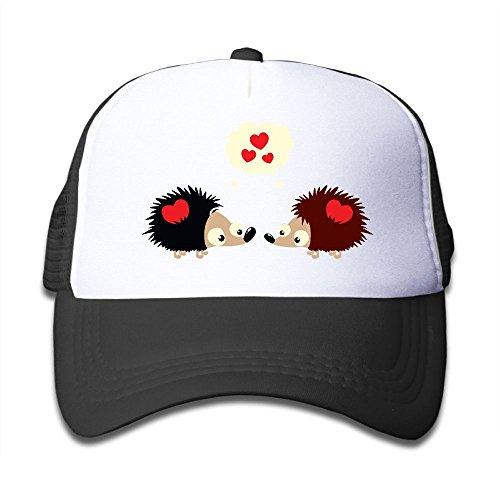 BOYGIRL-CAP Cute Couple Heart Hedgehog Kids Toddler Boys Girls Adjustable Mesh Cap Baseball Caps Trucker Hat by BOYGIRL-CAP