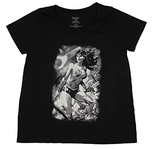 DC Comics Wonder Woman Black and White Battle Scene Women's Plus Size, 3