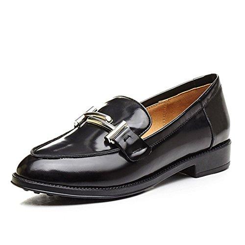Cintur Cabeza Boca Redonda QXH Pisos Mujer Zapatos Sandalias Superficial de del Hebilla nqPRa