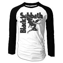 Men's Black Sabbath Heavy Metal Long Sleeve Raglan Baseball Shirt