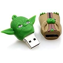 8Gb USB+Green Master Yoda Big Head Star Wars Flash Memory USB Drive Casing - PART OF JJONLINESTORE ACCESSORIES
