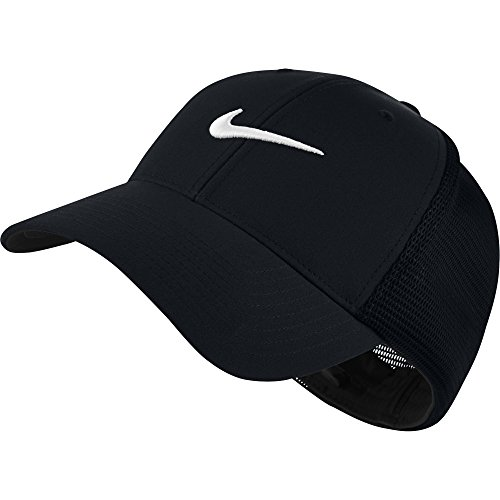 NIKE Unisex Legacy 91 Tour Mesh Hat, Black/Black/White, (Stretch Fit Golf Hat)