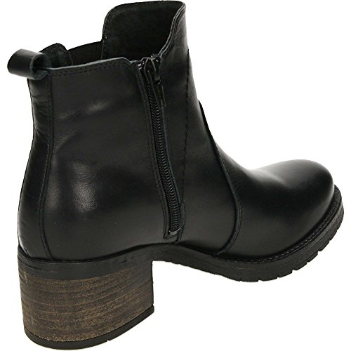 Leather Chelsea Ankle Boots Carmela Black Low Heeled fIzwxB