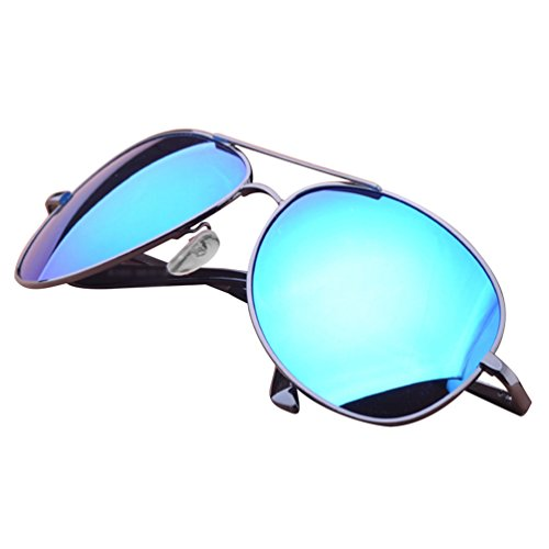 Classique Polarisées LINNUO de Protection Sunglasses UV Aviateur Driving Femmes Lunettes Eyewear 2bleu Hommes Soleil Lentille WXHqw8xTqU