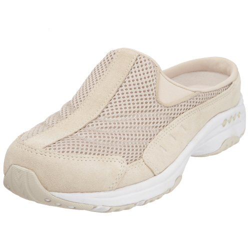 Easy Spirit Women's Traveltime Mule, Light Natural/White, 12