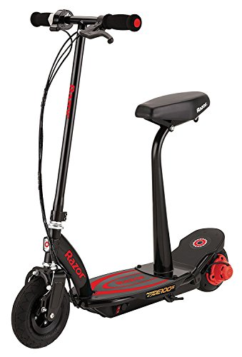(Razor Power Core E100S Seated Electric Scooter - Black/Red)