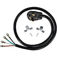 Accesorios para aparatos certificados Cable para secadora de 4 cables con ojal cerrado, 30 amperios, 4 pies