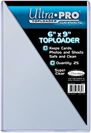 """Ultra Pro 6"""" X 9"""" Toploader 25 Count"""