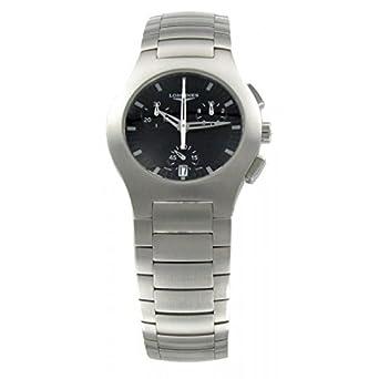 Uhr Longines opoition l31184526 Quarz (Batterie) Stahl Quandrante schwarz Armband Stahl