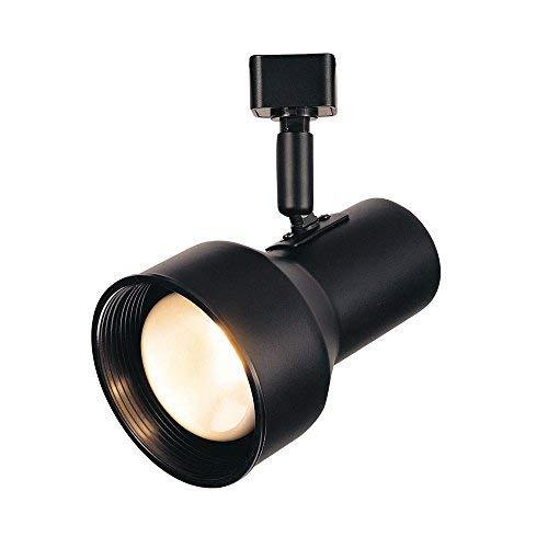 Black Step Cylinder - Hampton Bay R20 Black Step Cylinder Track Lighting Fixture Black