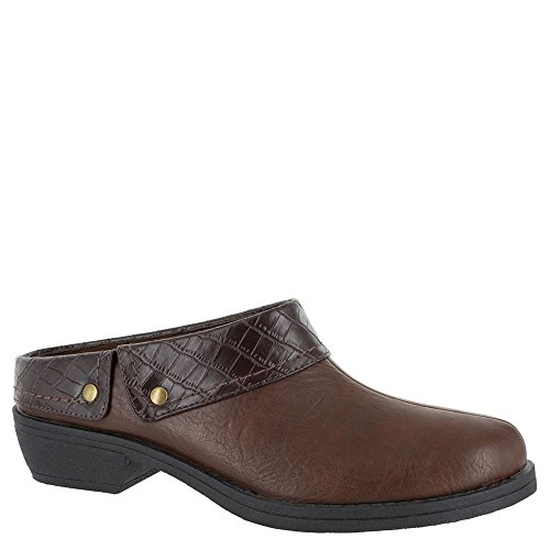 Easy Street Womens Becca Mule Tan/Brown Crocodile mpFwyrDw2