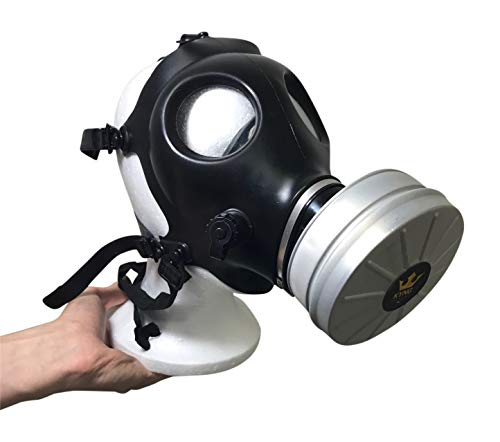 Israeli Style Rubber Respirator Mask NBC Protection w/Premium Aluminum Mask 40mm FILTER canister For Industrial Use Chemical Handling Painting, Welding, Prepping, Emergency Preparedness KYNG TACTICAL by Kyng Tactical (Image #2)