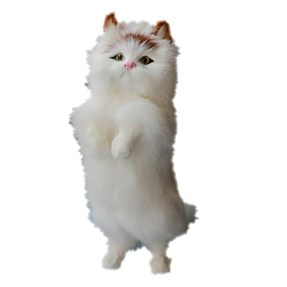 Yimosecoxiang Fortune Cat Juguete Realista de pie de la Fortuna Gato hogar fotografía Accesorios decoración del Coche Regalo