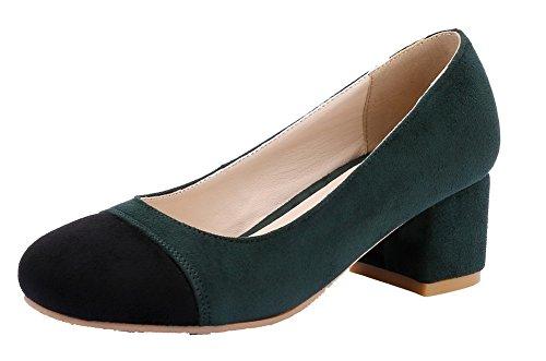 Tirare Medio Donna Assortito Tacco Verde Ballet FBUIDD006896 AllhqFashion Colore Plastica Flats tPZqPw