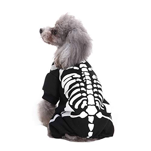 Hpapadks Pet Puppy Clothes,2018 Cool and Cute Pet Role Playing Costume Dog Shit Skeleton Pet Halloween Clothes Pet Clothing