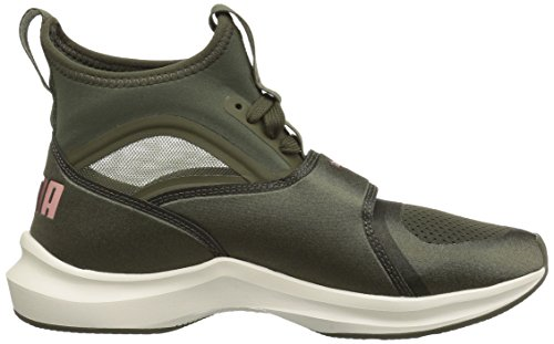 PUMA Womens Phenom Wn Sneaker, Olive Night-Whisper White, 8 M US