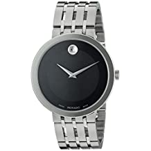 Movado 0607057 Men's Swiss Quartz Stainless Steel Automatic Watch, Silver-Toned