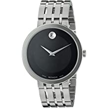 Movado Men's Swiss Quartz Stainless Steel Casual Watch, Color:Silver-Toned (Model: 0607057)