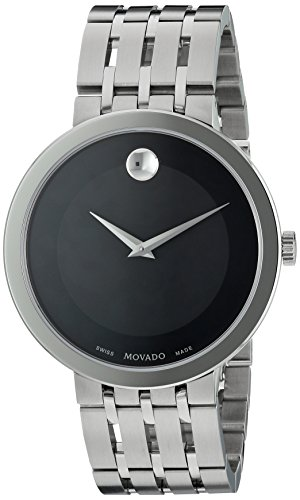 Movado Museum Mens - Movado Men's Swiss Quartz Stainless Steel Casual Watch, Color:Silver-Toned (Model: 0607057)