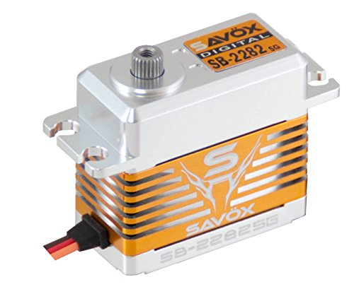 Surface Servo Digital (Savox SB-2282SG High Voltage, High Speed, Brushless Motor, Steel Gear, Standard Size Digital Servo (0.075/319.4))