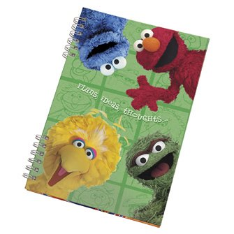 Sesame Street Notebook - Lined Plans, Ideas, Thoughts...