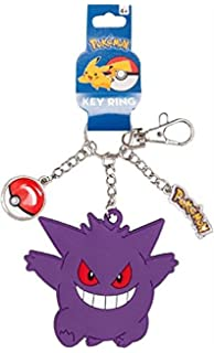 Amazon.com: Pokemon Keychain – Gengar Metal Key Ring: Clothing