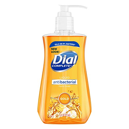 Dial Antibacterial Liquid Hand Soap, Gold, 7.5 Ounce