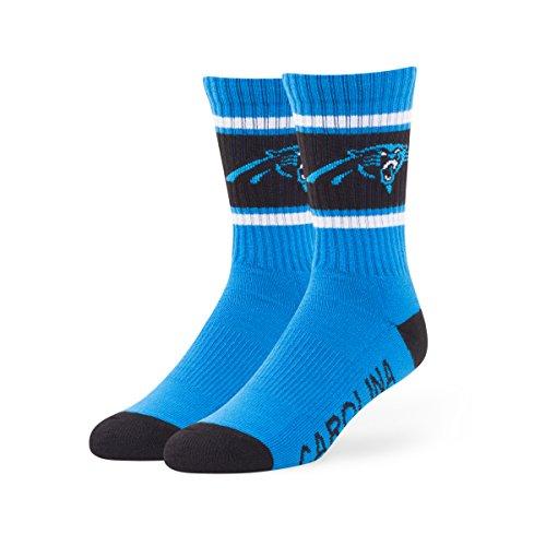 NFL Carolina Panthers '47 Duster Sport Socks, Glacier Blue, Large (Men's 9-13 / Women's 10-12), 1-Pack (Carolina Panthers Clothing)
