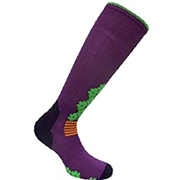 Eurosocks Women\'s Snowdrop Skiing Socks, Plum, Small