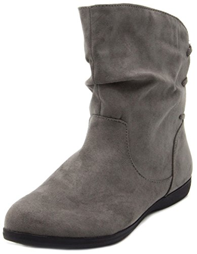 b7aae41439d3e Sugar Women's Brooke Slouched Flat Ankle Boot Bootie 7 Grey Micro ...