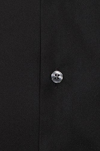 PURE Body Fit Hemd Langarm New Kent Kragen Ceramica Stretch schwarz