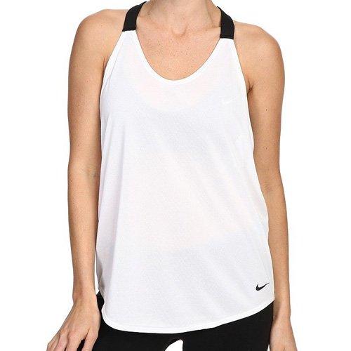 Nike Womens Dri-Fit Elastika Tank Top, White, X-Small,727749 100