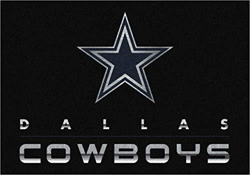 Dallas Cowboys Football Spirit Rug - Milliken 4000199086 NFL Chrome Dallas Cowboys 5'4