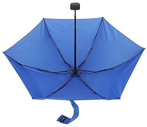 Travel Umbrella with Waterproof Case - Small, Compact Umbrella for Backpacks, Purses, Briefcases or Cars - Versatile, Unisex Design - Made with Water-Resistant Pongee Fabric - Premium Quality - Blue by Vumos (Image #6)