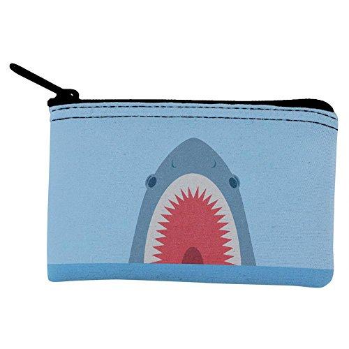 Cute Fun Shark Attack Coin Purse Multi Standard One Size