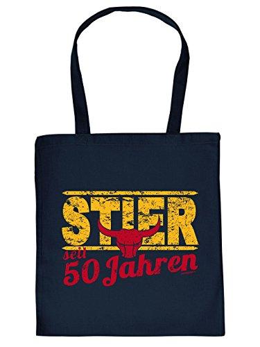 50 ° Idea Regalo Di Compleanno: Segno Zodiacale Unisex Borsa / Tote Bag / Sacchetto Di Stoffa / Toro Da 50 Anni