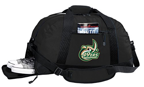 NCAA UNCC Duffel Bag - University of North Carolina Charlotte Gym Bags w/ SHOE POCKET North Carolina Charlotte Soccer