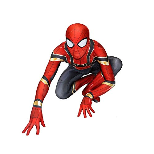 Unisex Lycra Spandex Zentai Superhero Halloween Cosplay Costumes Kids S -