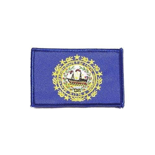 NEW HAMPSHIRE USA STATE SQUARE FLAG EMBROIDERED IRON-ON PATC