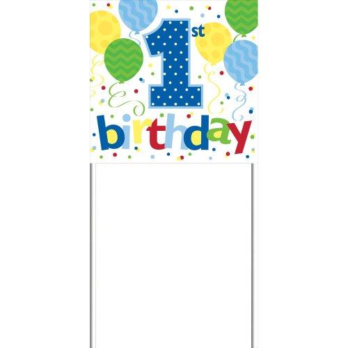 1st Birthday Boy Yard Sign