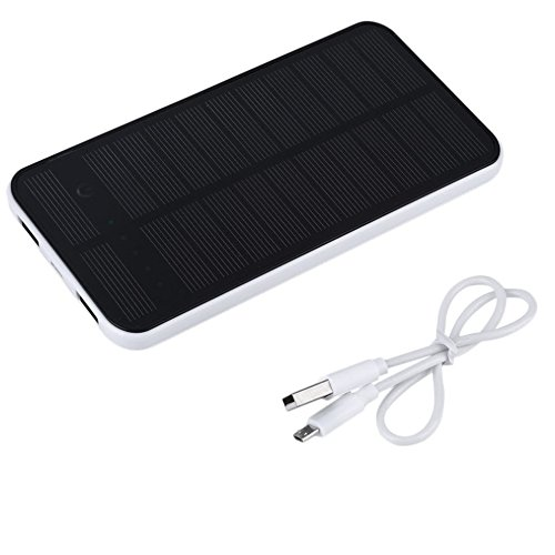 12000mah Dual USB Portable Solar Power Bank Phone Stand Holder Backup Battery Charger for All Cell Phone (Votive Shield)